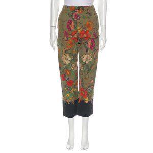 Gucci Floral Print Straight Leg Chino Pants (30)